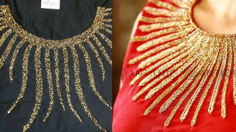 beadwork on kurti beautiful beaded neck for kurta moti work kurta