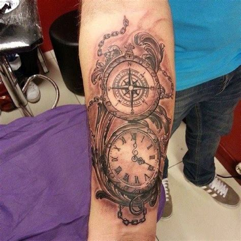 watch tattoo on wrist compass pocket search tattoos