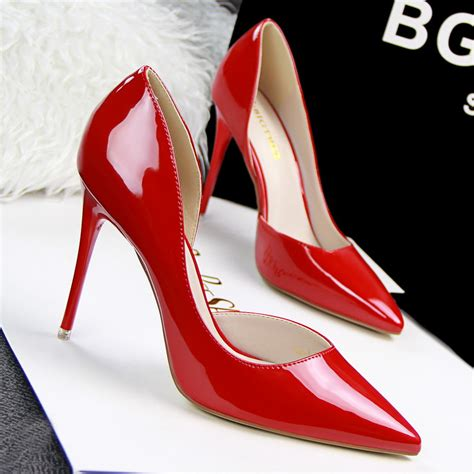 cheap high heels size 10 size 34 41sexy bottom pointed toe 10 5 cm high heels