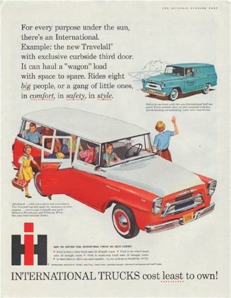 Suns International Cb 6r 1958 international trucks ad quot cost least to own quot trucks sun and the o jays