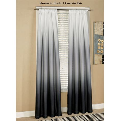 Grey Ombre Curtains Gray Ombre Window Curtains Soozone