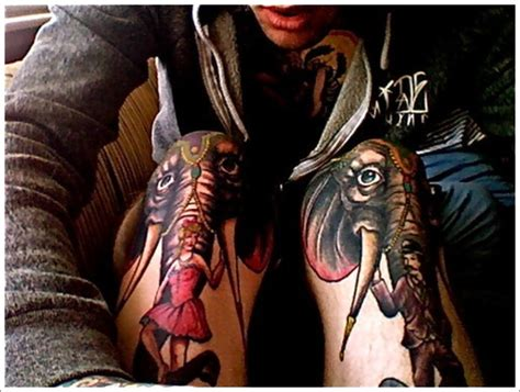 elephant knee cap tattoo 37 circus elephant tattoos collection