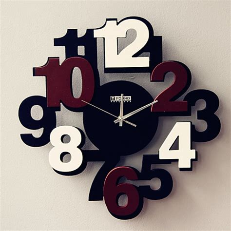 modern wall clocks design modern wall clock featured with brown numbers