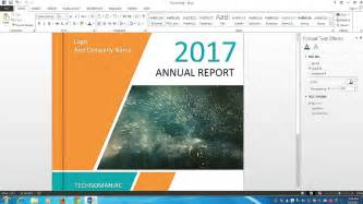 how to make a cover page design for report and book in