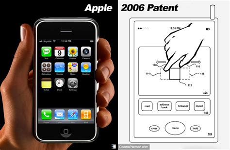 google images zoom iphone apple multi touch pinch zoom patent iphone obama pacman