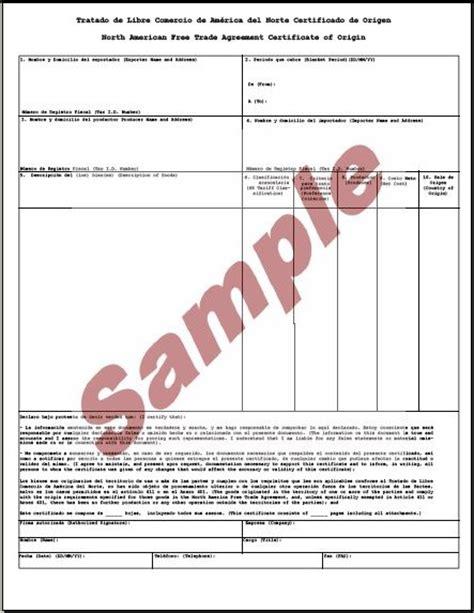 28 nafta certificate of origin template global