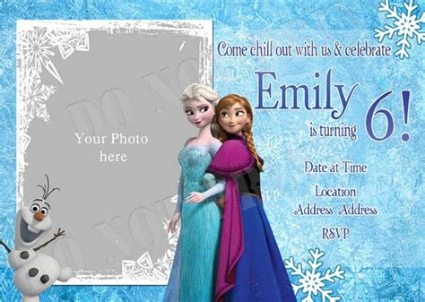 frozen birthday invitation with photo elsa frozen birthday invitation ideas bagvania free printable invitation template