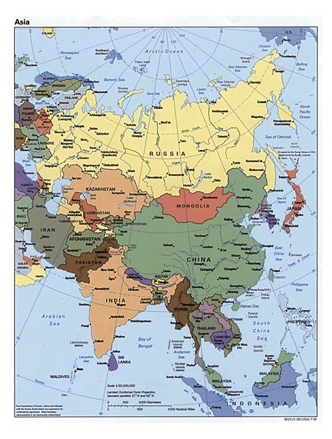 political map of asia with capitals detailed political map of asia with all capitals asia
