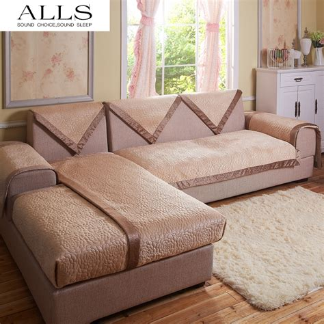 Cover Sectional Sofa Decorative Sofa Cover Sectional Modern Slipcover Beige Suede Fabric Towel Cover For The Sofa
