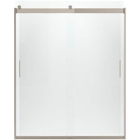 8 x 5 sliding doors kohler levity 59 5 8 in x 74 in frameless sliding shower
