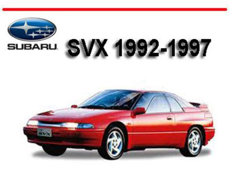 car owners manuals free downloads 1994 subaru svx navigation system subaru svx 1992 1997 workshop service repair manual download manu