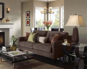 Living Room Pictures With Brown Furniture Living Room With Brown Sofa