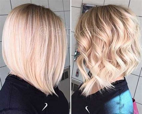 long layered cut with slant bang 30 best long blonde bob short hairstyles haircuts 2017