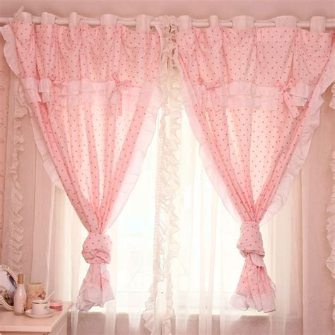 curtains for girls bedrooms pink lace curtains in sweet style designed for girls bedrooms