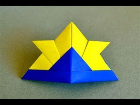 Origami Helmet - origami samurai hat www origami