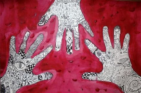 hand pattern art lesson lesson ideas hands in art