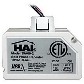 hai home automation 39a00 2 upb split phase repeater