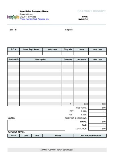receipts for payments template free payment receipt template wondershare pdfelement