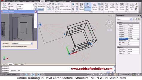 autocad tutorial with commands autocad 3d camera command tutorial autocad 2010 youtube