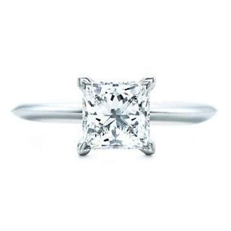 co engagement ring princess cut solitaire