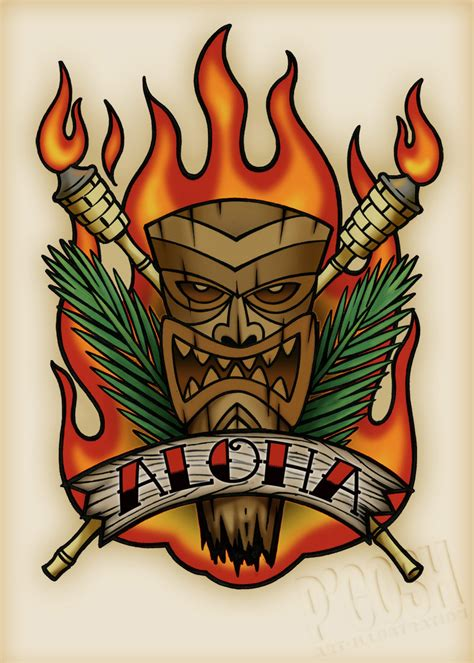 tiki tattoo designs portfolio detail p gosh