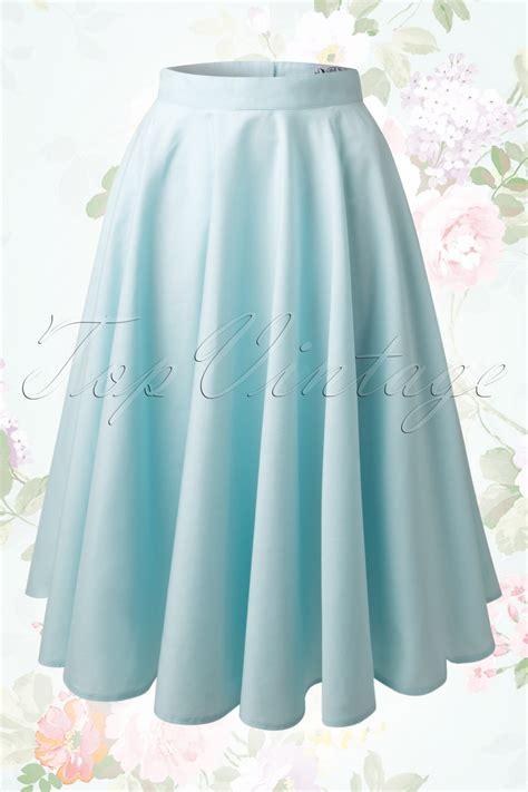 50s swing skirt 50s paula swing skirt in baby blue