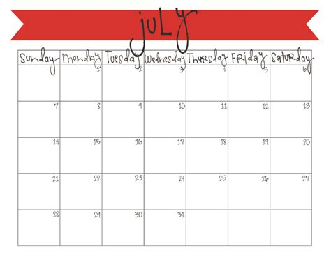 Calendar July 2013 Search Results For July 2013 Calendar Printable Large