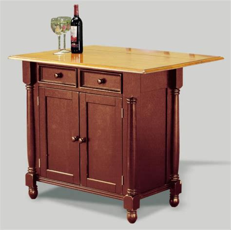 Kitchen Island Cart With Drop Leaf Drop Leaf Island W Comfort Barstool Set Blac Contemporary Kitchen Islands And Kitchen Carts