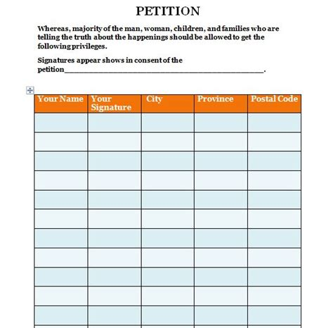 template for a petition 30 free petition templates how to write petition guide