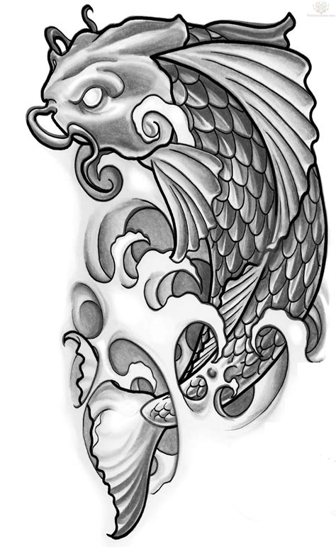 stencil tattoo designs japanese tattoos koi design
