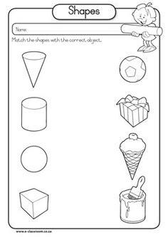 shape pattern theory solid shapes worksheets for kindergarten solid shapes
