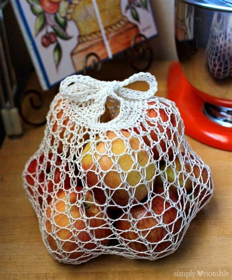 free pattern crochet produce bag weightless produce bag simply notable