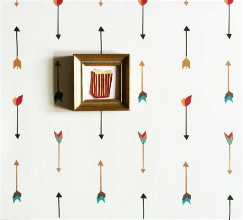 colorful removable wallpaper removable wallpaper multi color arrow print adheres to