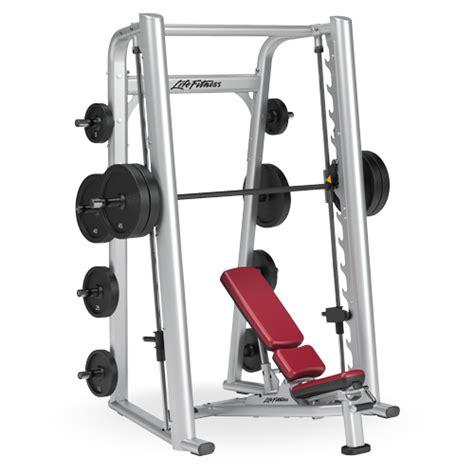 life fitness bench press bar weight smith machine ssm life fitness