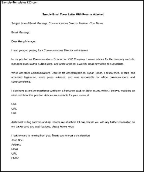 cover letter format sle free email cover letter word format template free download