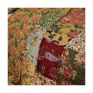 Country Patchwork - country floral patchwork quilted oversized cotton