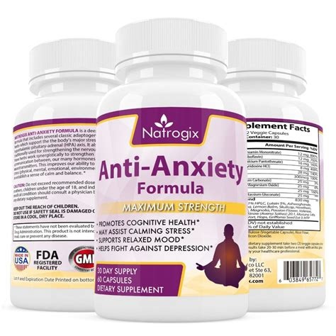 supplement anxiety buy natrogix anti anxiety supplement potent vitamins and