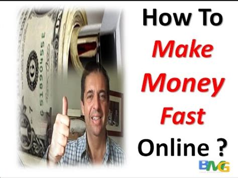 Make Online Money Fast - how to make money fast online youtube