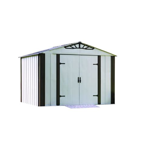 arrow designer series 10 ft x 8 ft steel storage shed