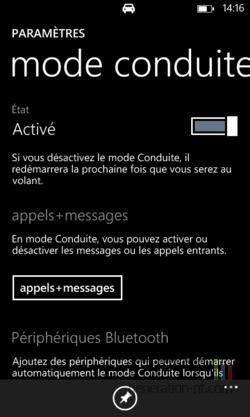 Activer le mode conduite de Windows Phone - trucs, astuces