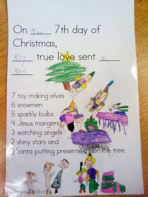 the 12 days of s pictureback r books the 12 days of kindergarten class book activity