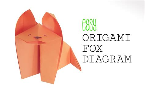 Origami Fox Diagram - how to make an easy origami fox