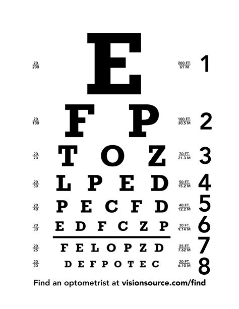 printable eye chart letter size eye chart download free snellen chart for eye test eye