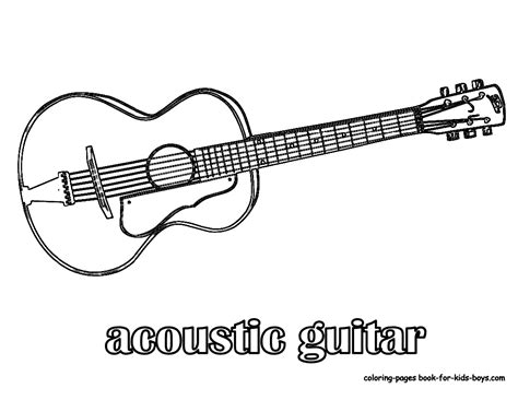 coloring pages guitar amazing acoustic guitar printables wood guitars free