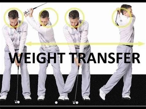 weight transfer during golf swing golf swing weight transfer backswing and downswing youtube