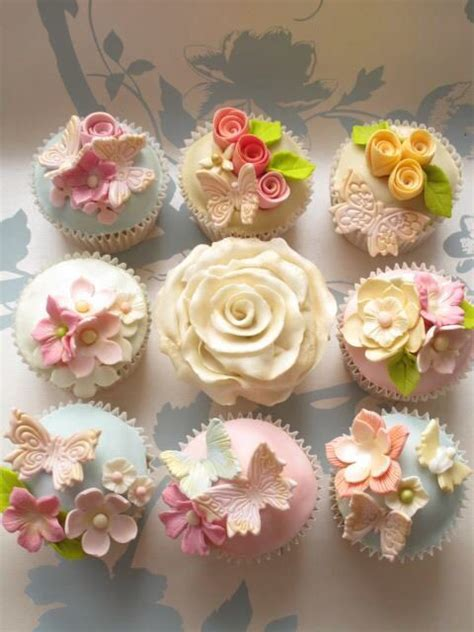 butterflies  flowers cupcakes party ideas cupcakes cupcake cakes cupcake cookies