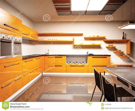 modern kitchen interior 3d rendering modern kitchen interior 3d royalty free stock photo