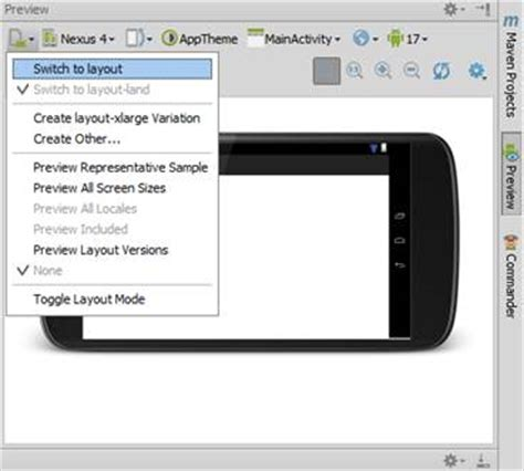 android studio layout portrait landscape getting started with google s android studio developer com