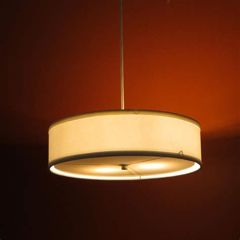 l shade pendant kit low profile pendant linen drum shade s t lighting llc