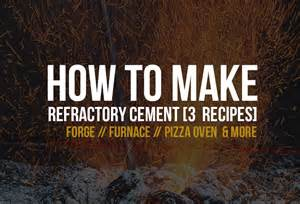 Backyard Brick Oven How To Make Refractory Concrete 3 Easy To Make Recipes
